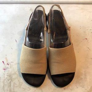 Life Stride Heeled Elastic Sling-back Sandals